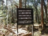Aokigahara Forest Warning sign